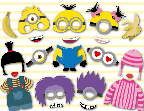 570x440 Instant Download Minions Photo Booth Props Minions Birthday