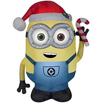 350x350 8' Despicable Me Inflatable Minion Kevin With Candy