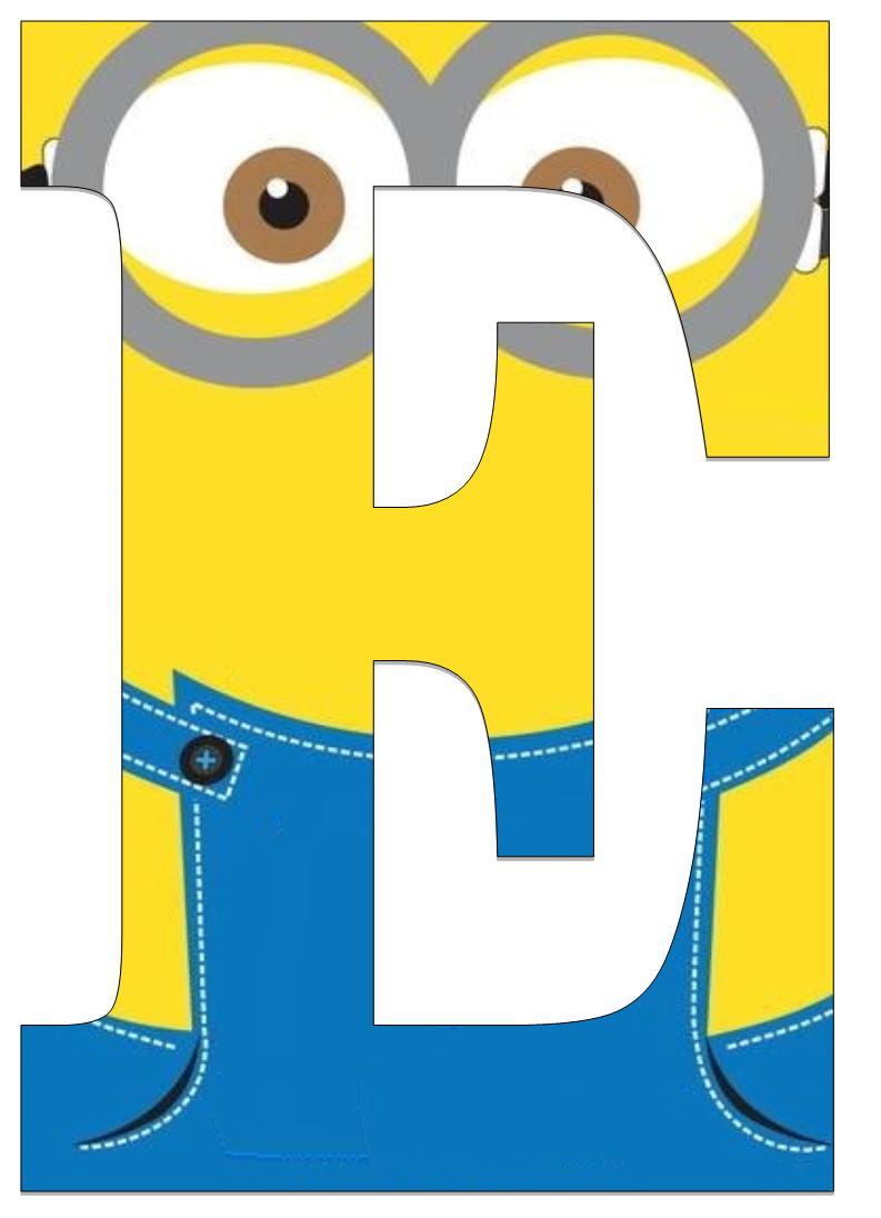 793x1096 Letter Clipart Minion