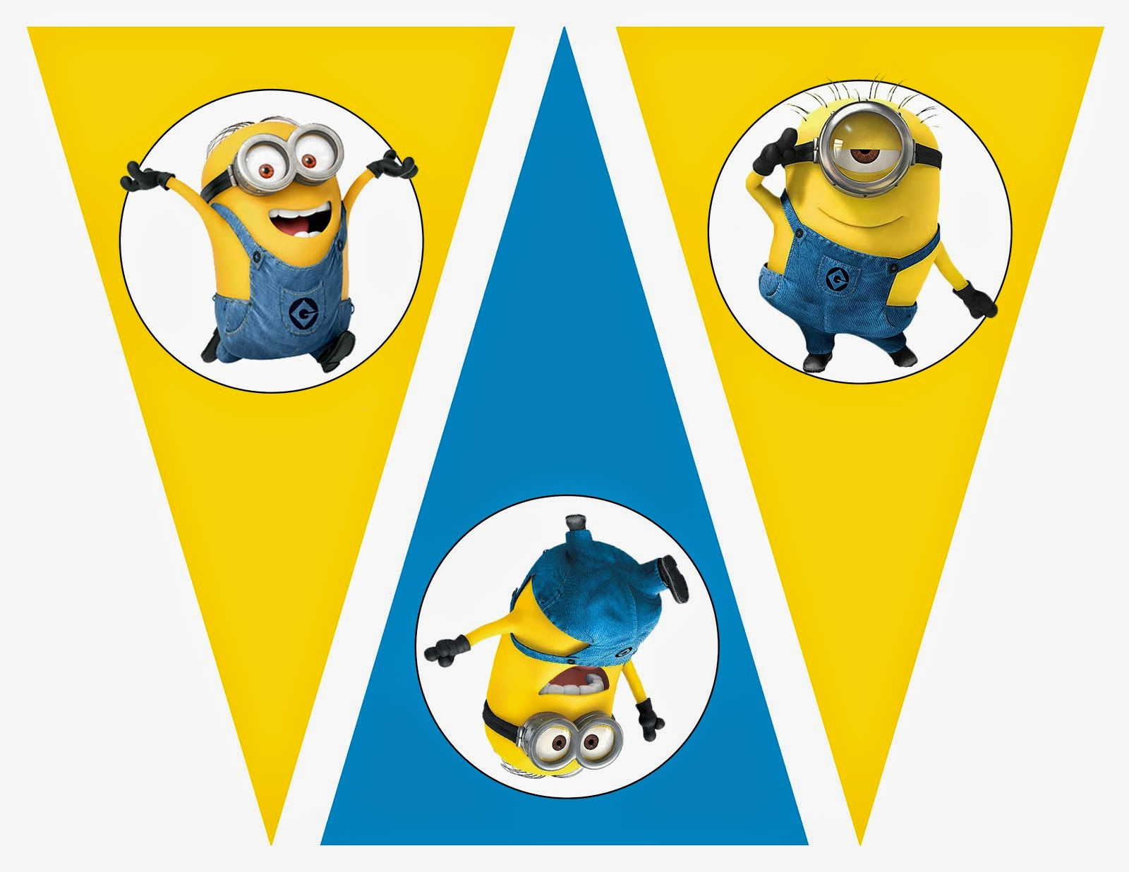 1600x1236 Minions Free Printable Bunting, Labels And Toppers. Oh My