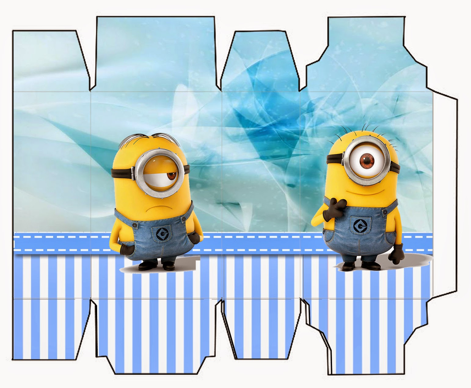1542x1270 Minions On Blue Background Free Printable Mini Kit. Oh My