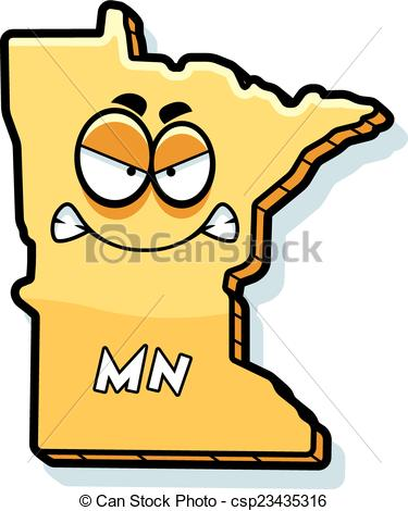 375x470 Cartoon Angry Minnesota. A Cartoon Illustration Of The State