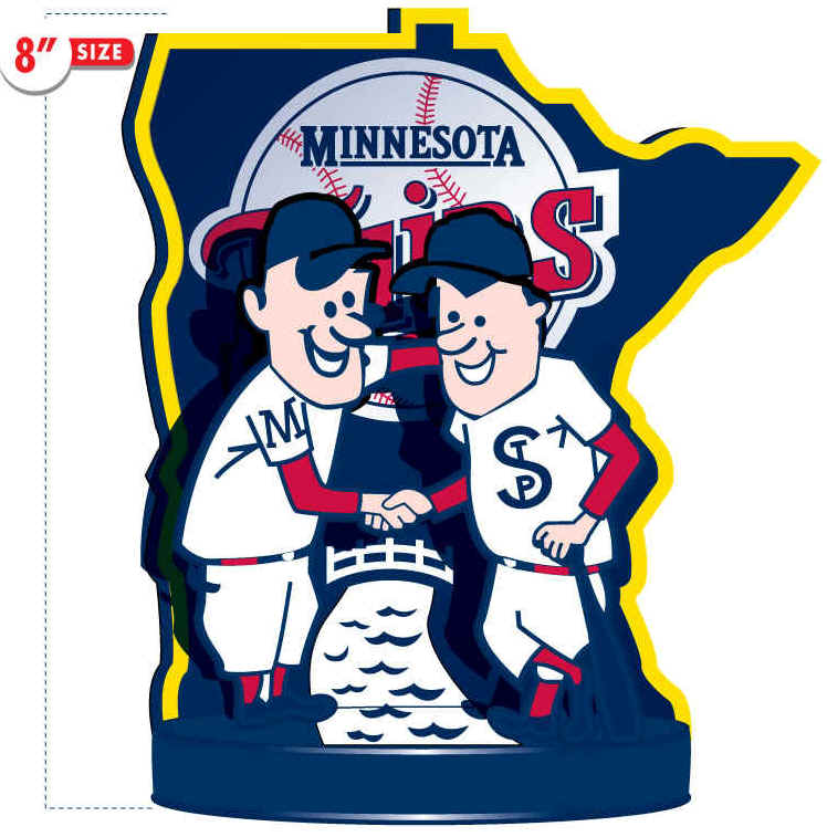 748x757 Deluxe Retro Minnesota Twins Minnie And Paul Bobble Head Figurine