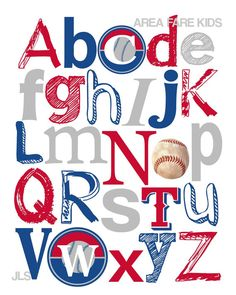 236x295 Minnesota Twins Baseball Abc Nursery Art Print Abc Nursery