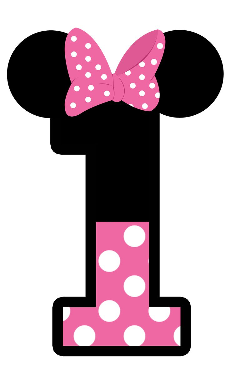 736x1171 Minnie Mouse Number 1 Clip Art Clipart