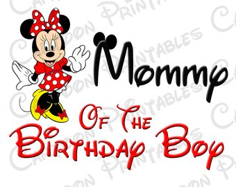 340x270 Grammy Of The Birthday Boy Minnie Mouse Iron On Image Mouse Ears