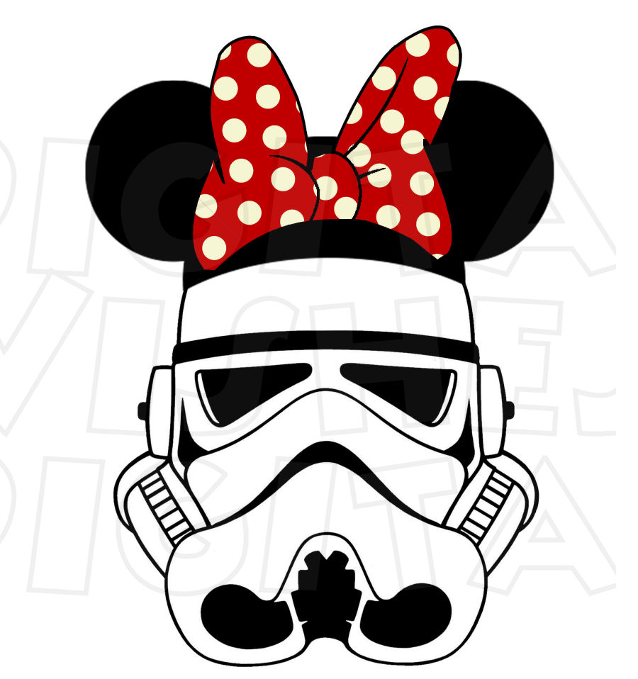 900x958 Storm Trooper With Minnie Mouse Ears Instant Download Digital Clip