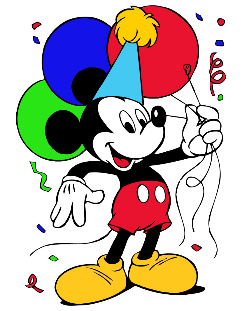 830x1066 Best Mickey Mouse Birthday Clipart