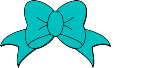 299x135 Teal Minnie Mouse Bow Clip Art
