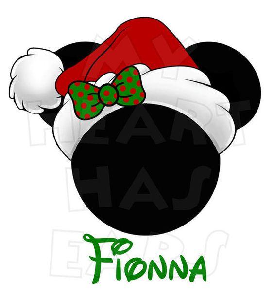 564x618 Disnet santa hats clipart