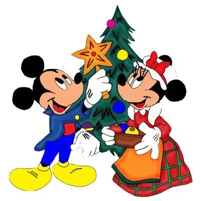 400x400 Mickey Mouse Christmas Clip Art Labels Animation , Cartoons