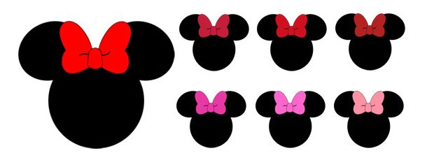 610x229 100 Colors Minnie Mouse Clipart Collection