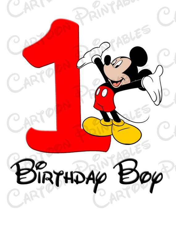 570x738 Mickey Mouse First Birthday Boy Image Printable Clip Art Iron
