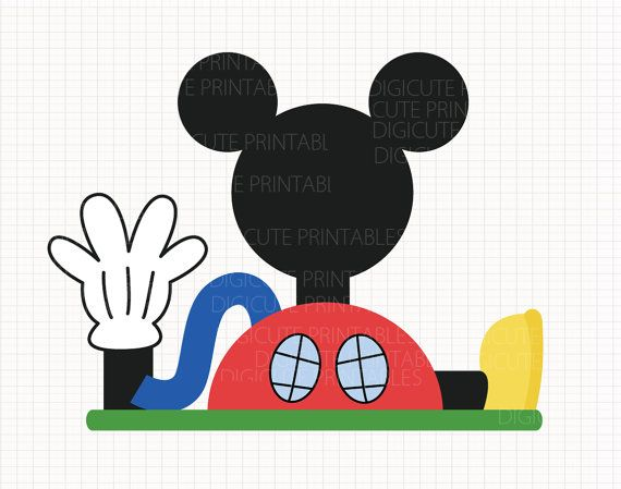 570x449 Disney Inspired Mickey Mouse Clubhouse Digital Clip Arts Personal