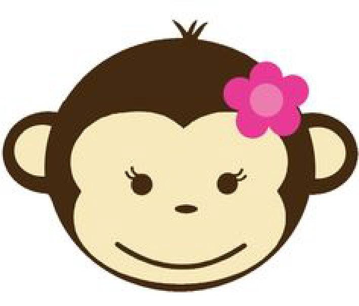 709x604 Monkey Clipart Head Girl