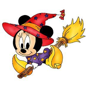 290x290 HALLOWEEN MINNIE MOUSE WITCH CLIPART fabric paintings designs