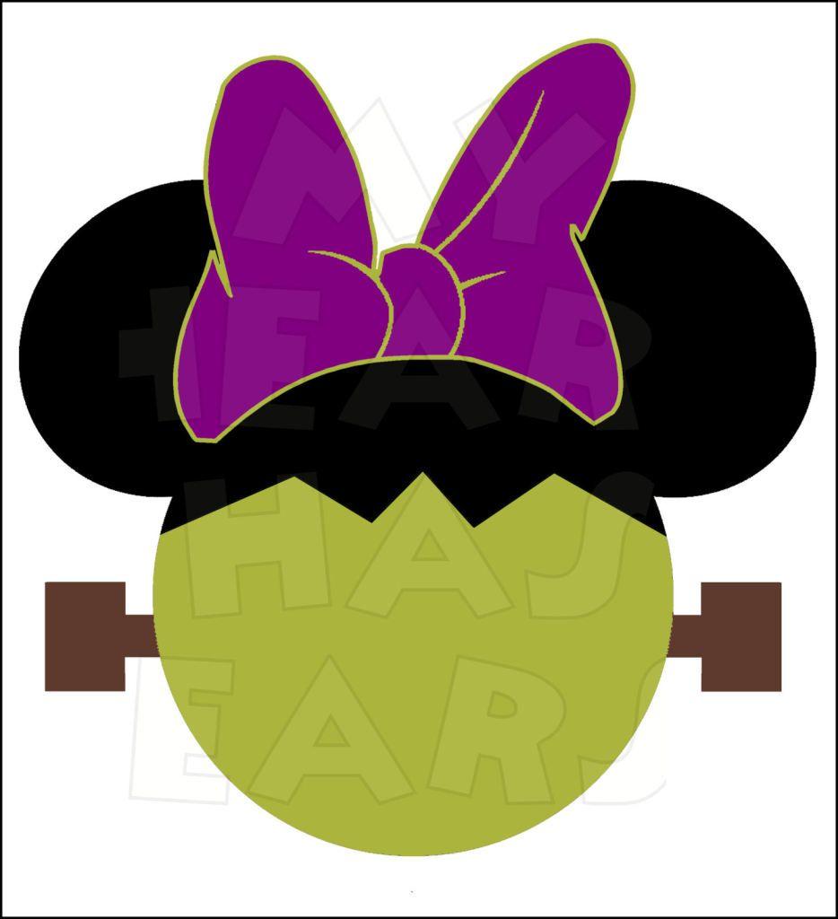 934x1024 Minnie Mouse Frankenstein Instant Download Halloween Digital Clip