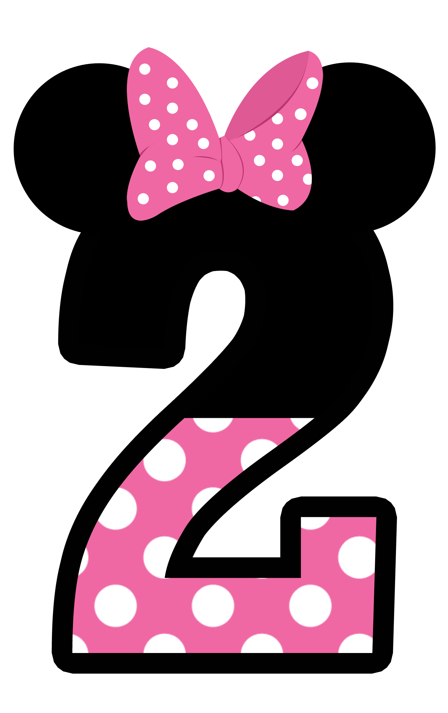 1500x2389 Minnie Mouse Number 2 Clipart