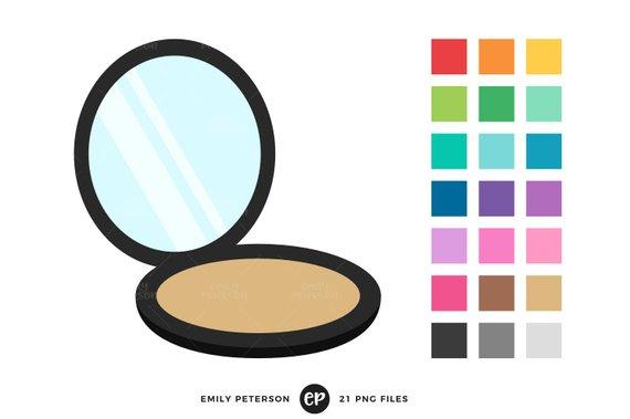 570x379 Compact Mirror Clip Art, Mirror Clipart, Makeup Clip Art