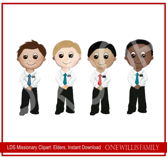 570x538 Lds Missionary Clipart Instant Download