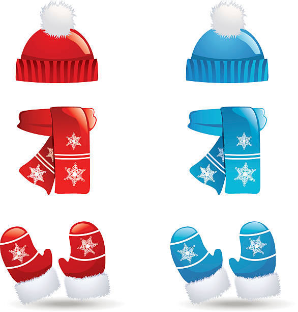 586x612 Hat And Mitten Clipart