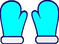 203x153 Blue Mittens Clipart