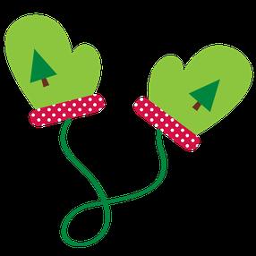 286x286 Christmas Mittens Clip Art Clip Art