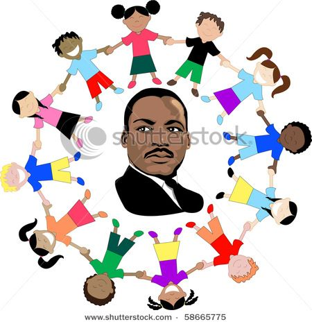 450x467 Clip Art Of Dr.martin Luther King With Children Of The World