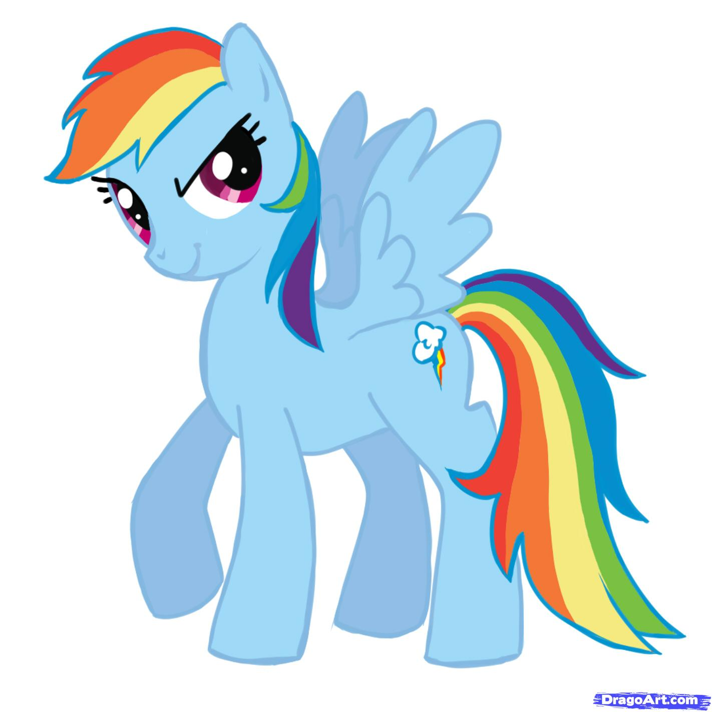 1422x1422 Extraordinary My Little Pony Clipart 20 Drawing Rainbow Dash 53