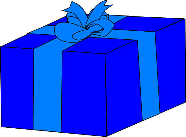 600x442 Gift Box In The Public Domain Clipart