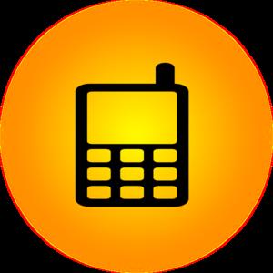 300x300 Orange Mobile Icon Clip Art