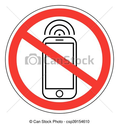 450x470 Sign Ban Prohibits Mobile Phone, Smart Phone, Vector For Vector