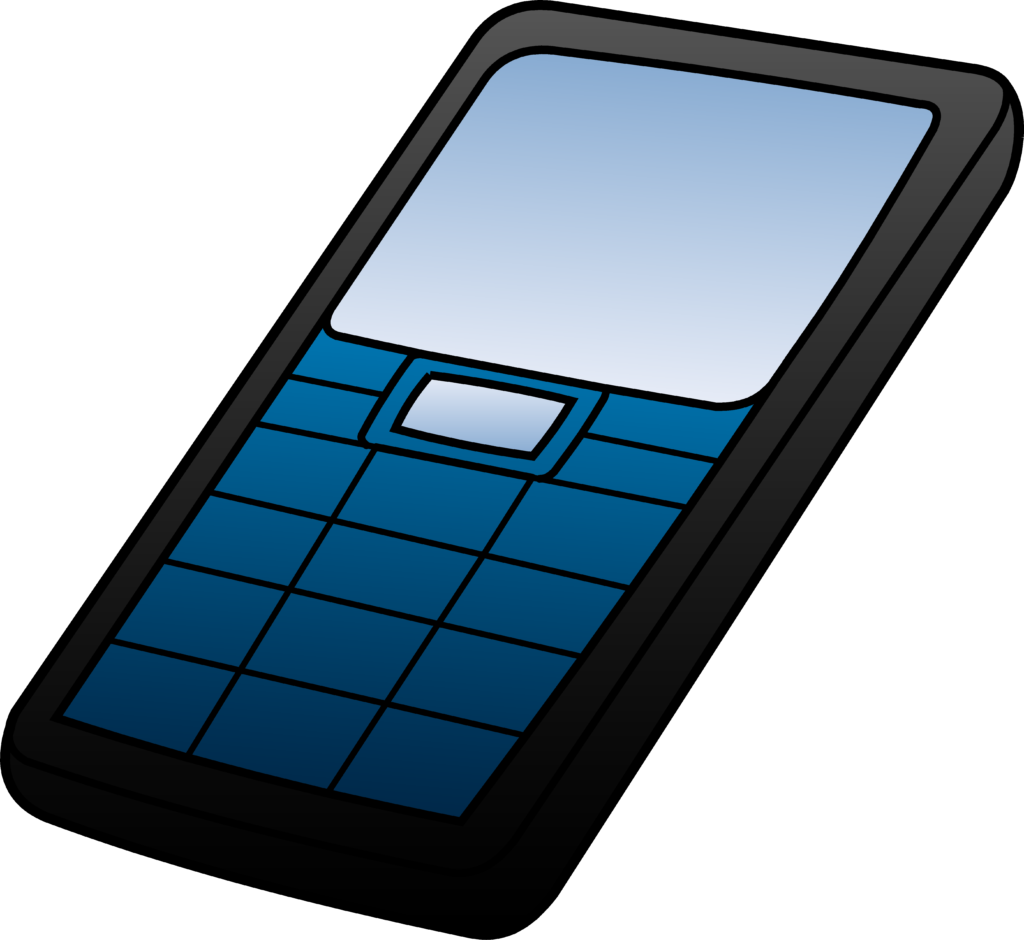 1024x940 Blue And Black Cell Phone Design Free Clip Art Digitalbicycle