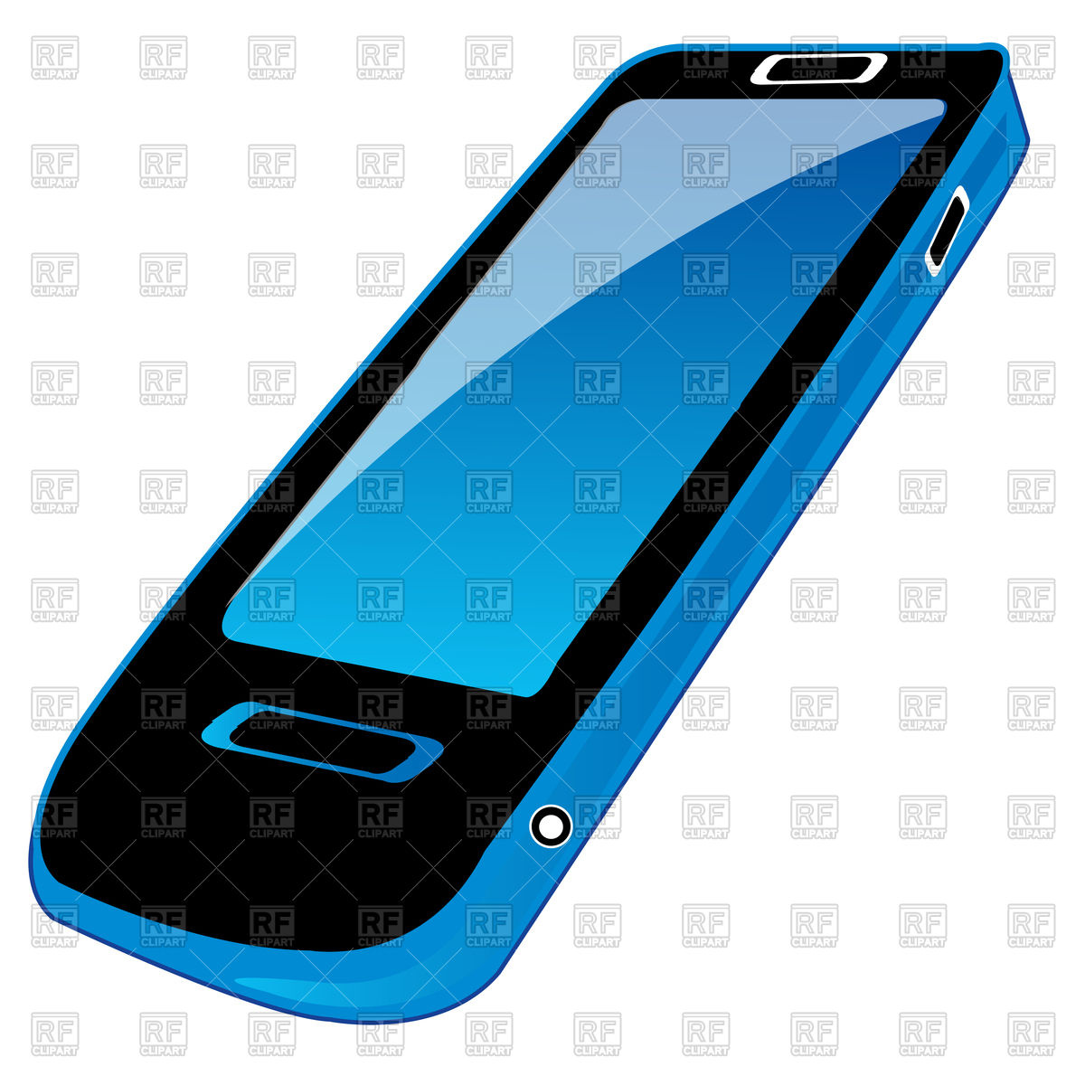 1200x1200 Device Mobile Telephone On White Background Is Insulated Royalty