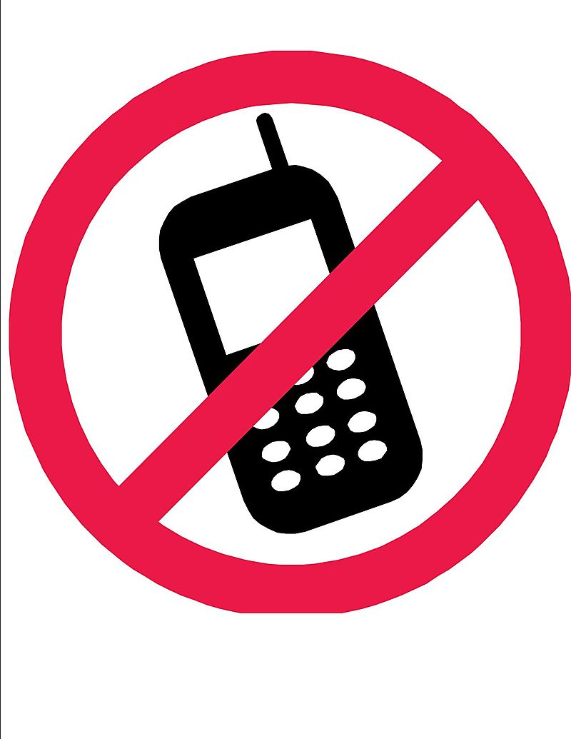 800x1035 Collection Of No Cell Phone Clipart Black And White High