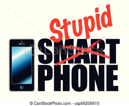 450x368 Phones May Be Smart, But People Arent. This Graphic Vector Clip