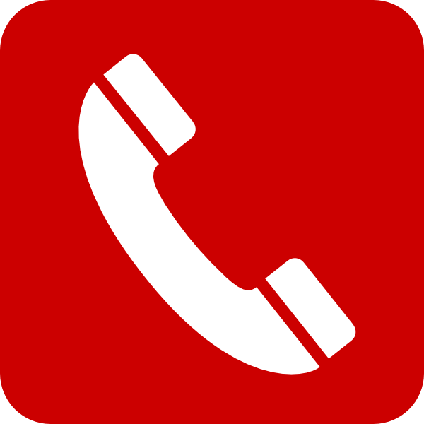 600x600 Red Phone Clipart