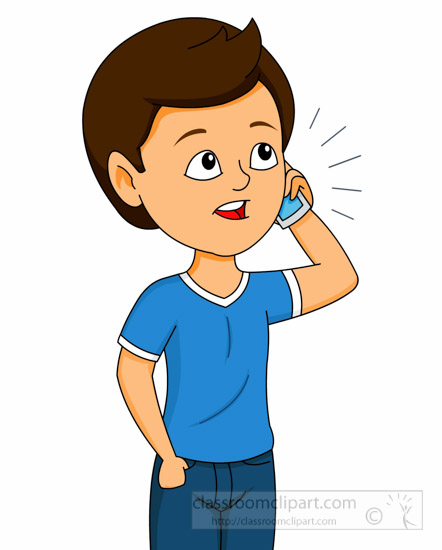 442x550 Talking Clipart Communication Clipart Boy Talking On Mobile Cell