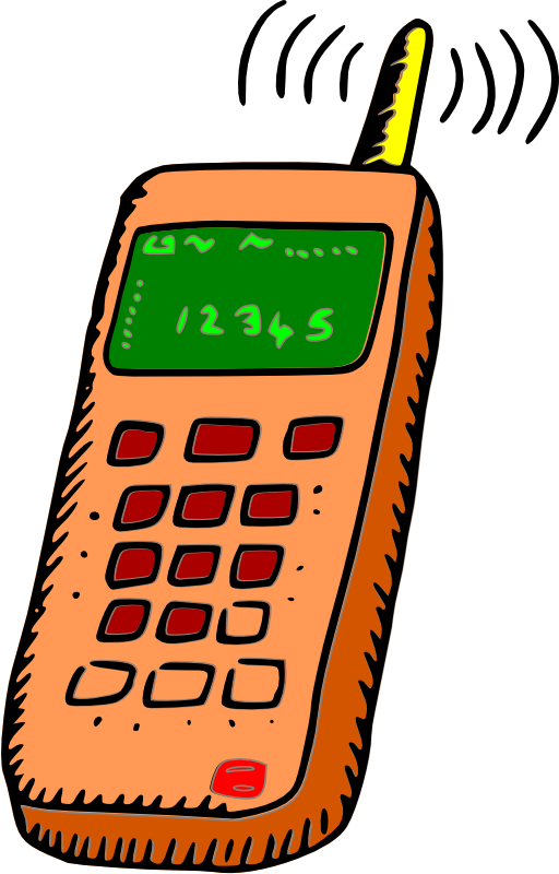 512x800 Analogue Mobile Phone Clipart I2clipart