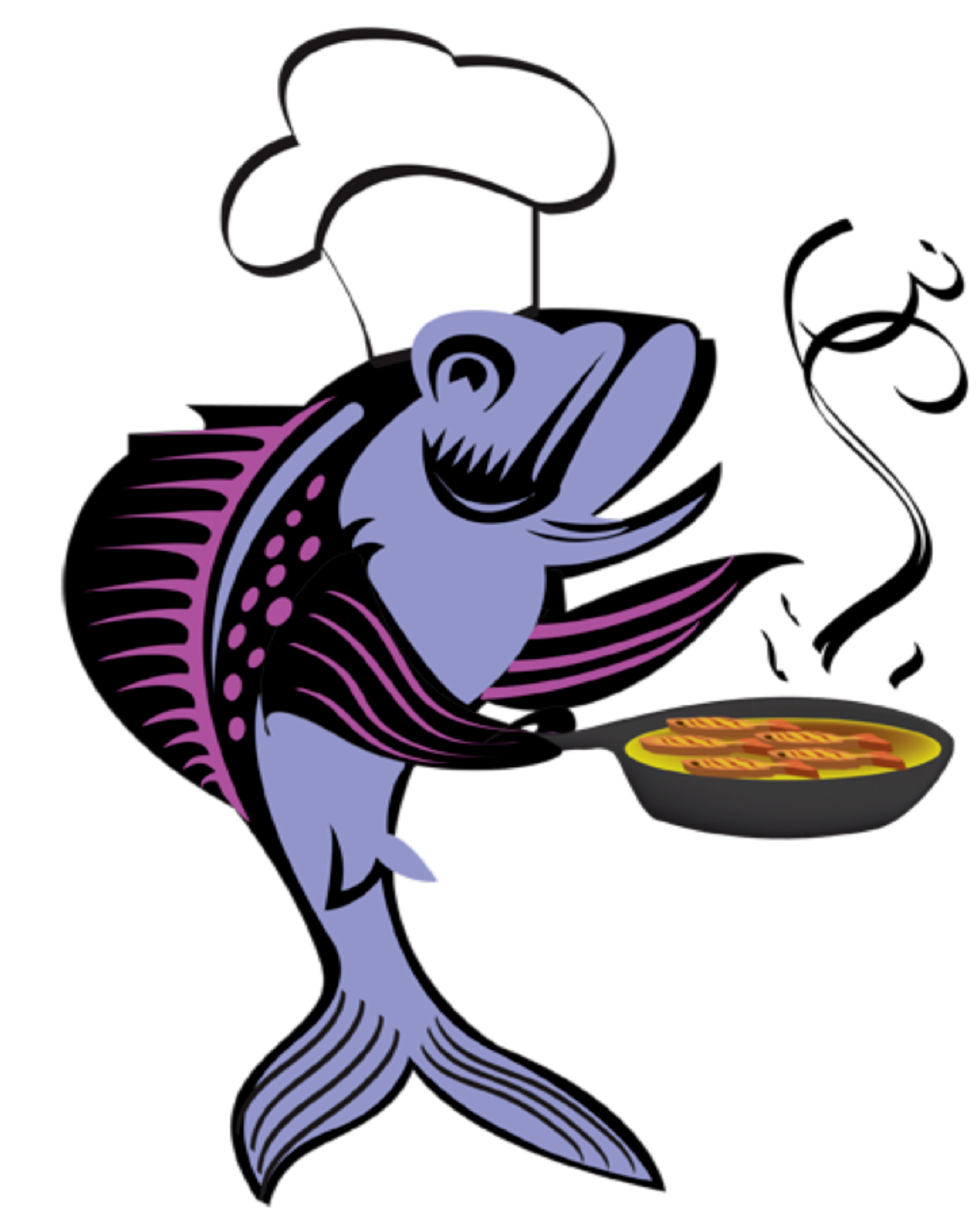 3017x3725 Clipart Of Fried Fish Panda Free Images