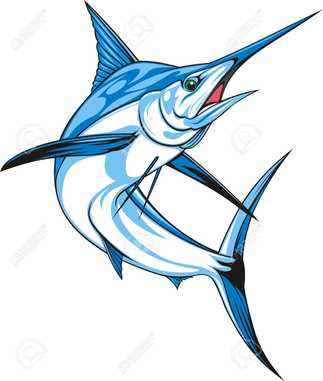 1103x1300 Fish Clipart Blue Marlin