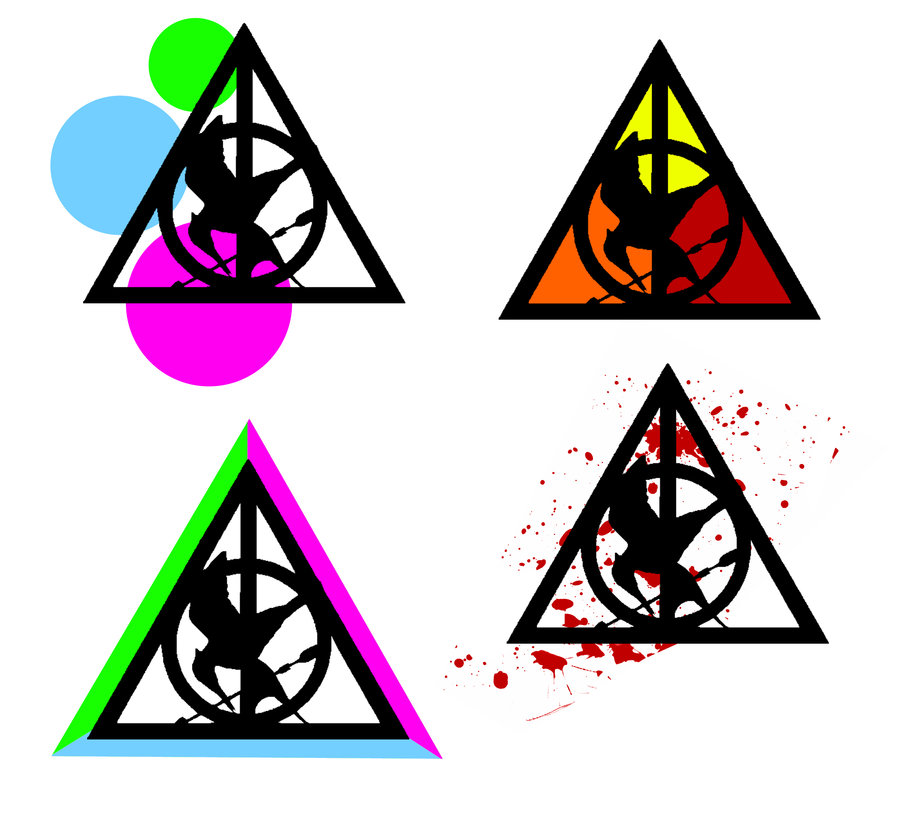 900x824 Mockingjay Deathly Hallows Designs By Selenaguardi