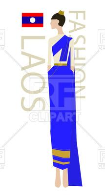215x400 Laos Fashion Model Royalty Free Vector Clip Art Image