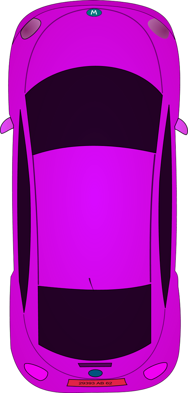 600x1255 Image Of Car Clipart Top View