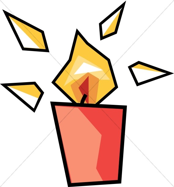 569x612 Modern Art Candle Church Candle Clipart
