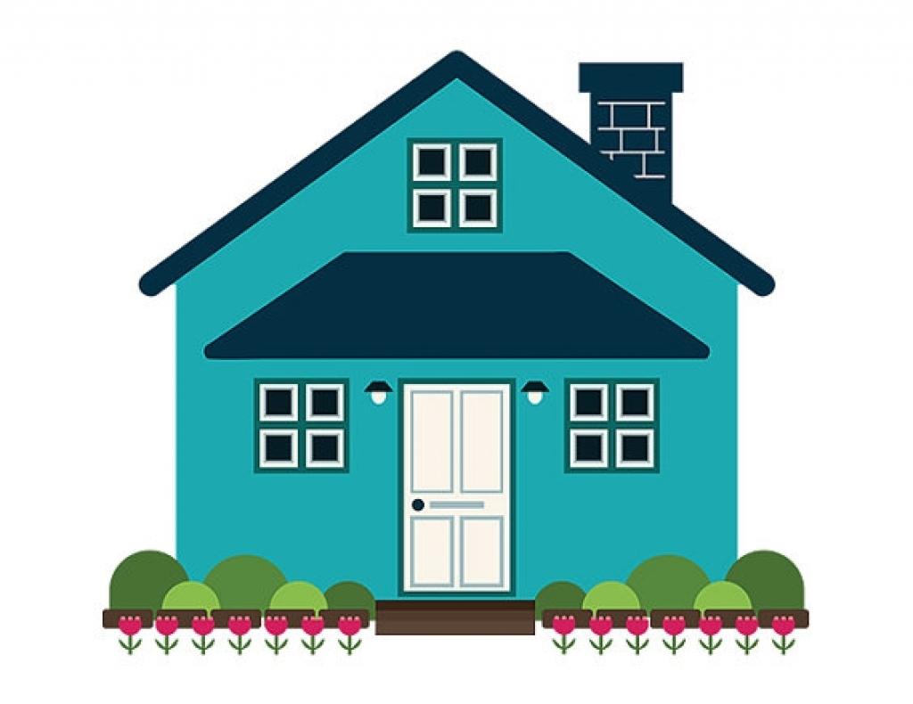 1024x790 Modern House Clipart Geometric Modern House Clip Art Blue Home
