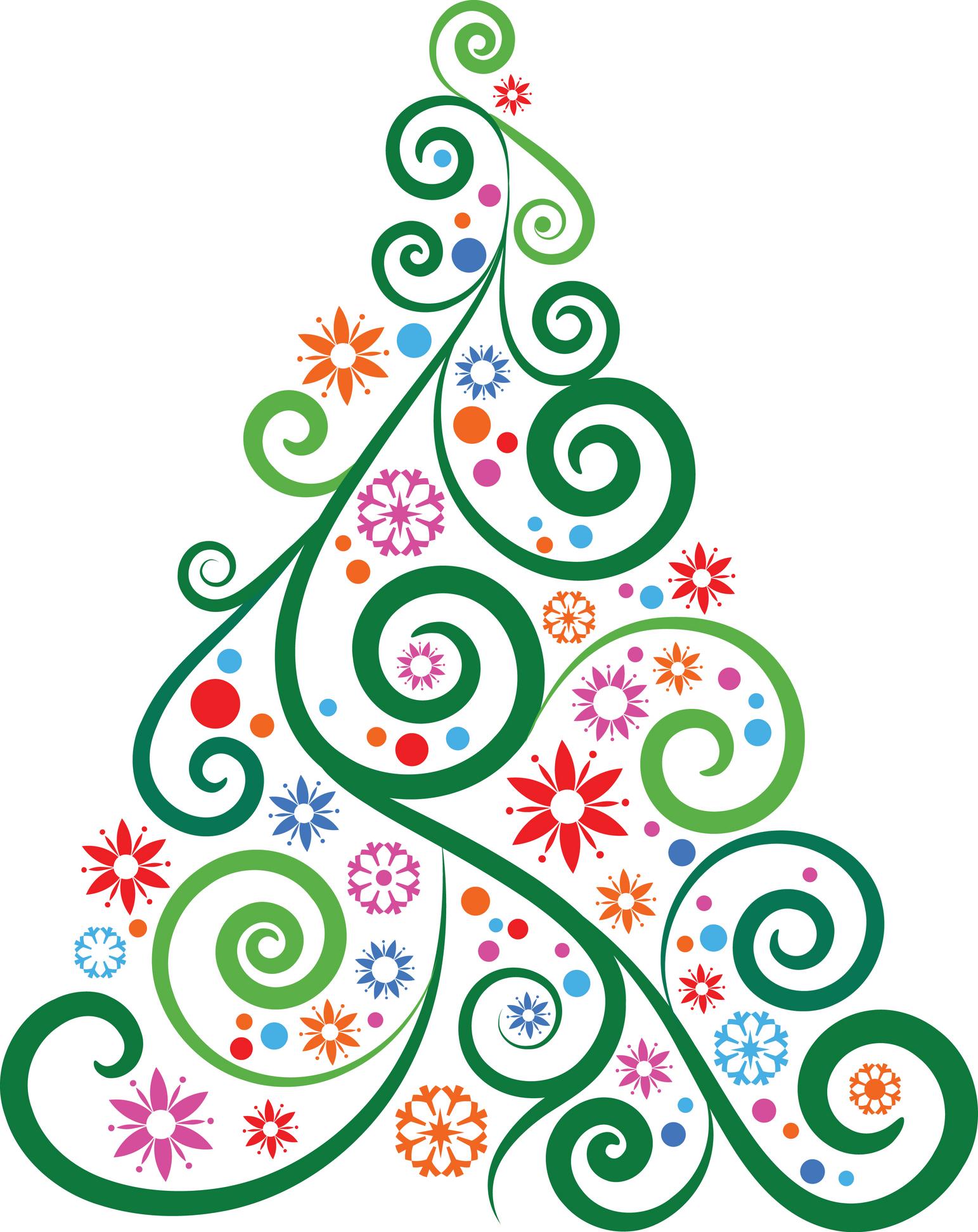 1543x1943 Clip Art Modern Christmas Tree Clip Art