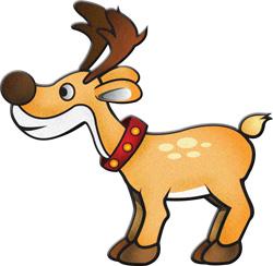 250x244 Clip Art Reindeer