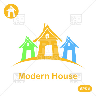 400x400 Modern House Icons Royalty Free Vector Clip Art Image