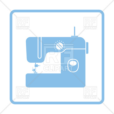 400x400 Modern Sewing Machine Icon Royalty Free Vector Clip Art Image